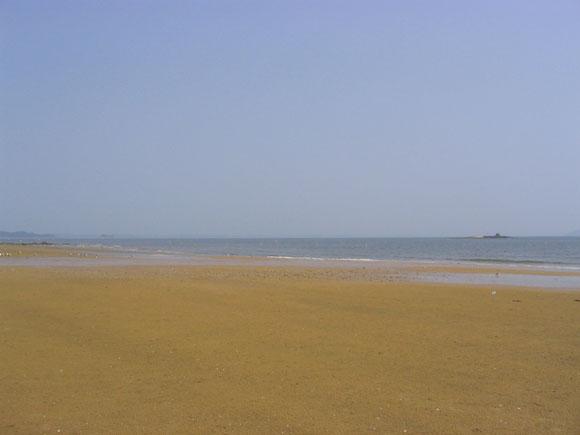 연포 해수욕장 해변