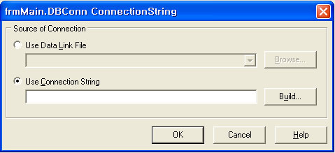 Connection String 대화상자
