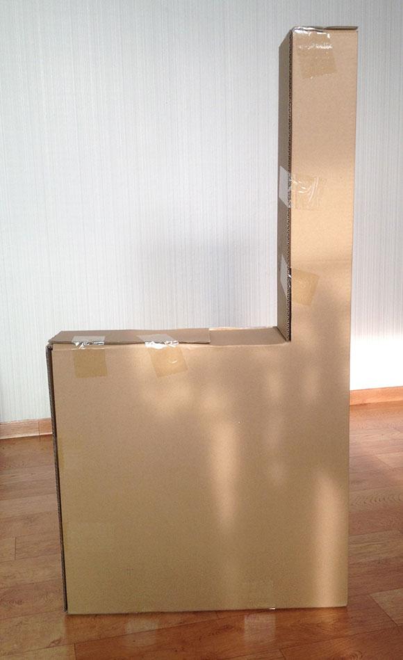이케아 레르함(LERHAMN) 의자 상자 모양