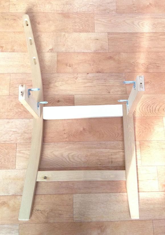 의자틀에 연결한 모양