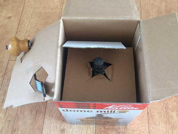 상자 개봉 - 손잡이와 위쪽 부분
