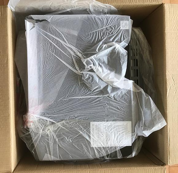 비닐로 감싸진 SK매직EON-30BMD 본체